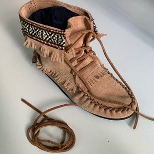 Canadian genuine suede moccasins